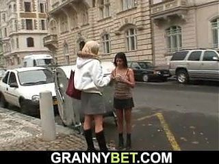 Real granny fucking blonde grannies